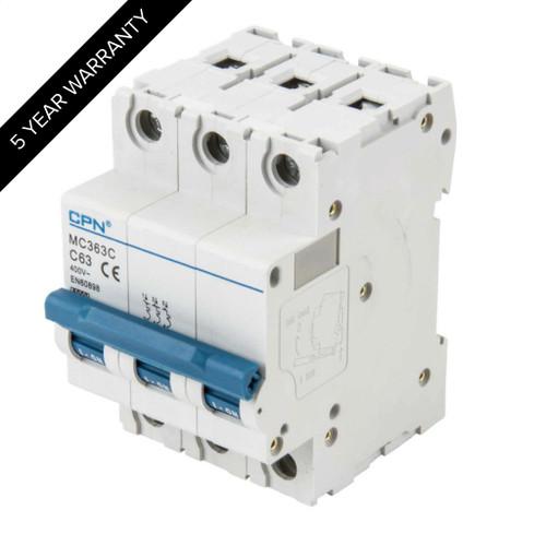 63A 3P 6kA Type C MC MCB (DFL3MC363C)