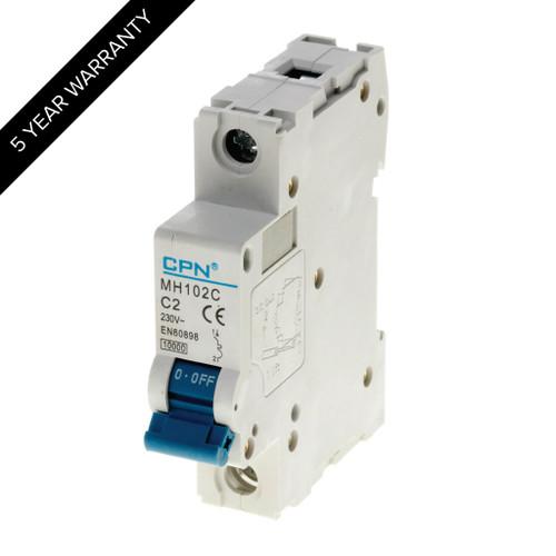 2A 1P 10kA Type C MH MCB (DFL3MH102C)