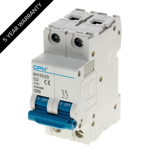 2A 2P 10kA Type D MH MCB (DFL3MH202D)