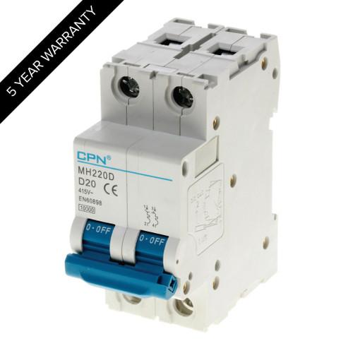 20A 2P 10kA Type D MH MCB (DFL3MH220D)