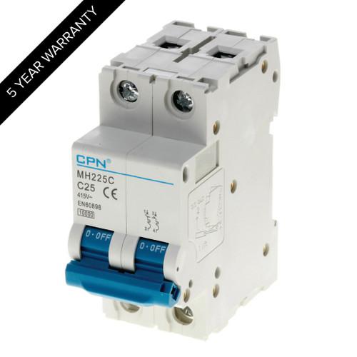 25A 2P 10kA Type C MH MCB (DFL3MH225C)