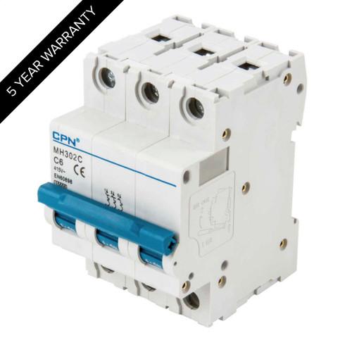 2A 3P 10kA Type C MH MCB (DFL3MH302C)