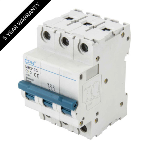 10A 3P 10kA Type C MH MCB (DFL3MH310C)