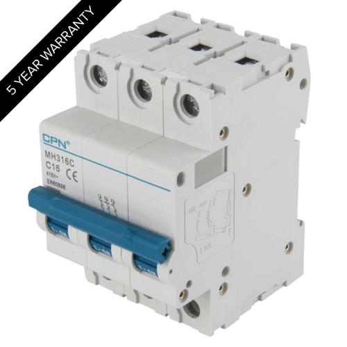 16A 3P 10kA Type C MH MCB (DFL3MH316C)