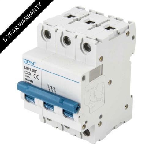 20A 3P 10kA Type C MH MCB (DFL3MH320C)