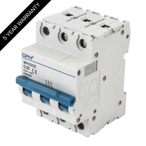 20A 3P 10kA Type D MH MCB (DFL3MH320D)