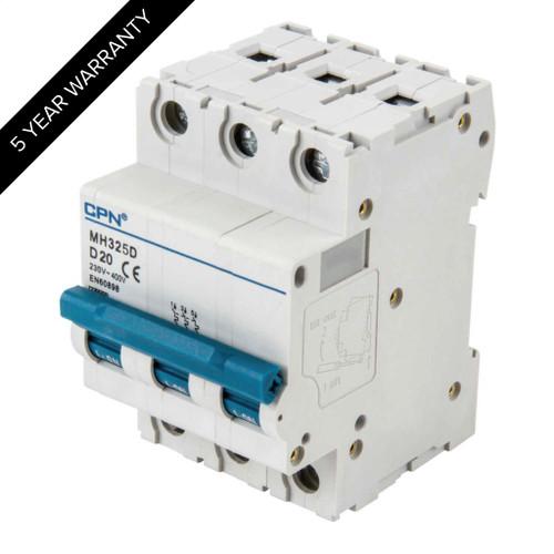 25A 3P 10kA Type D MH MCB (DFL3MH325D)