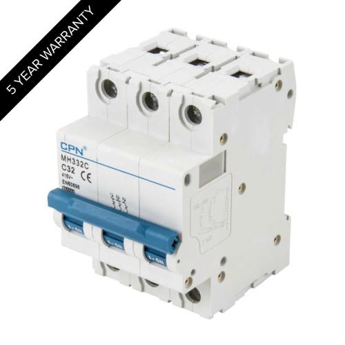 32A 3P 10kA Type C MH MCB (DFL3MH332C)