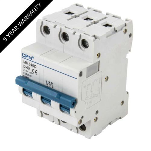 40A 3P 10kA Type D MH MCB (DFL3MH340D)