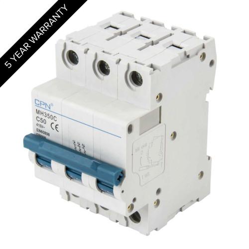 50A 3P 10kA Type C MH MCB (DFL3MH350C)