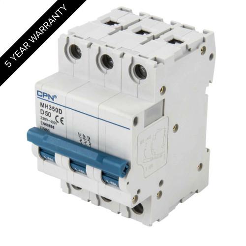 50A 3P 10kA Type D MH MCB (DFL3MH350D)