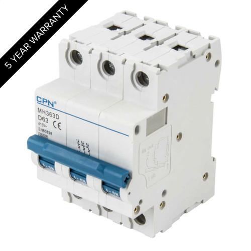 63A 3P 10kA Type D MH MCB (DFL3MH363D)