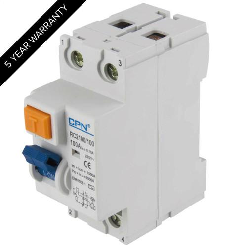 100A 2P 100mA RCD (DFL3RC2100100)