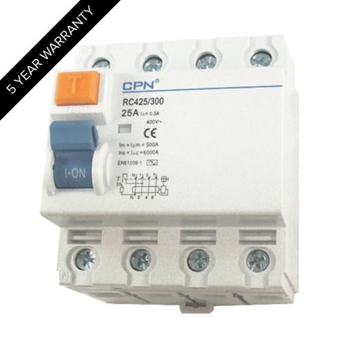 25A 4P 300mA RCD (DFL3RC425300)