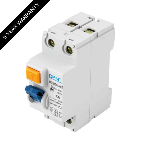 100A 2P 300mA Time Delay RCD (DFL3RC2100300T)