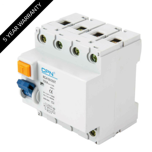 100A 4P 300mA Time Delay RCD (DFL3RC4100300T)