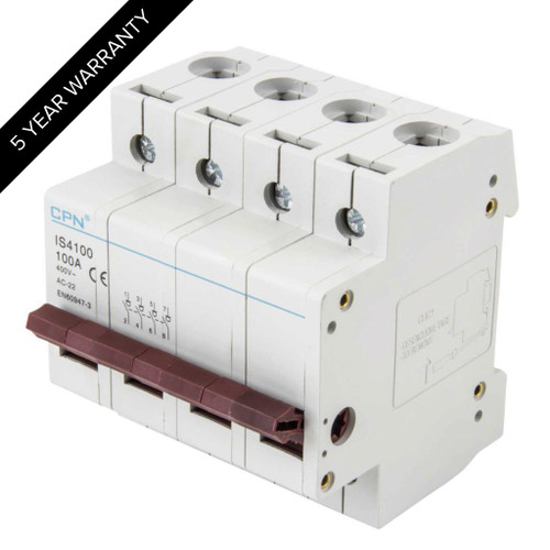 100A 4P Isolator Incomer (DFL3IS4100)