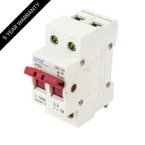 125A 2P Isolator Incomer (DFL3IS2125)