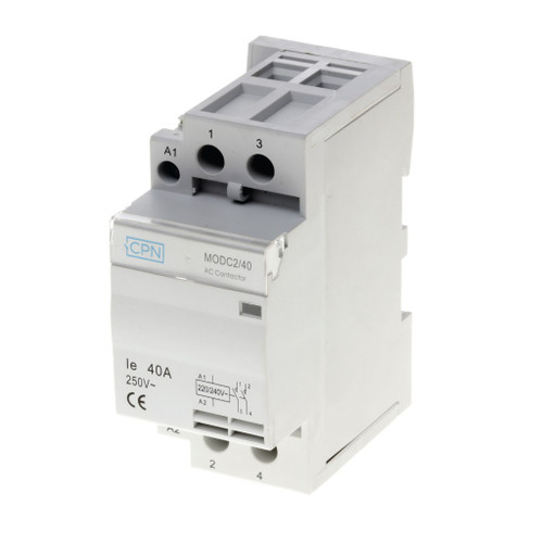 2P 40A Modular Contactor c/w Spacer (DFL3MODC240)