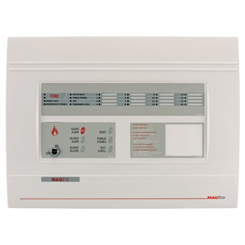 8 Zone Fire Panel - Expandable to 16 Zones