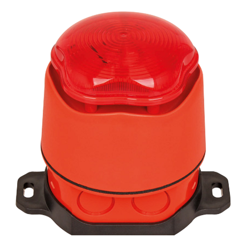 Red Waterproof Sounder and Strobe