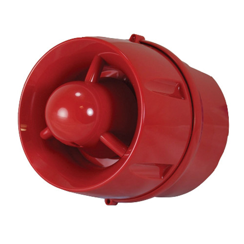 Conventional Hi-Output Wall Sounder, Deep Base, Red Enclosure, IP33C
