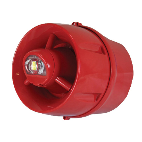 Conventional Hi-Output Wall Sounder VAD, Deep Base, Red Enclosure, IP33C