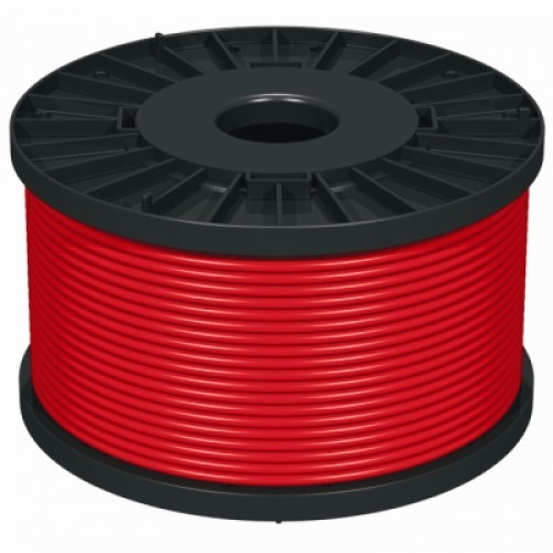 NoBurn 4 Core + Earth 1.5mm 100m Fire Cable Red