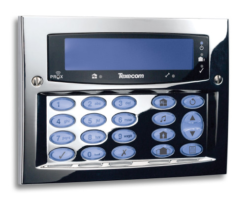 Texecom Premier Elite Flush Mount Keypad Polished Chrome