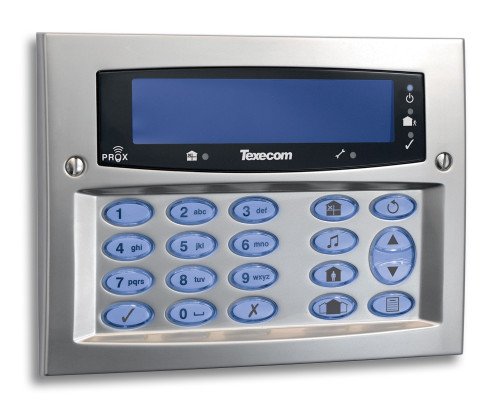 Texecom Premier Elite Flush Mount Keypad Satin Chrome