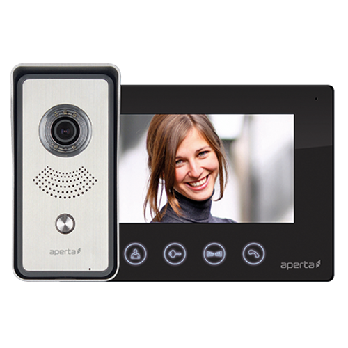 Colour Video Door Entry System - Black