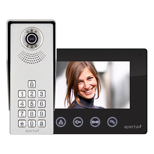 Colour Video Door Entry Keypad System - Black