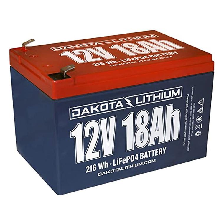 Dakota Lithium 12V 18AH Battery