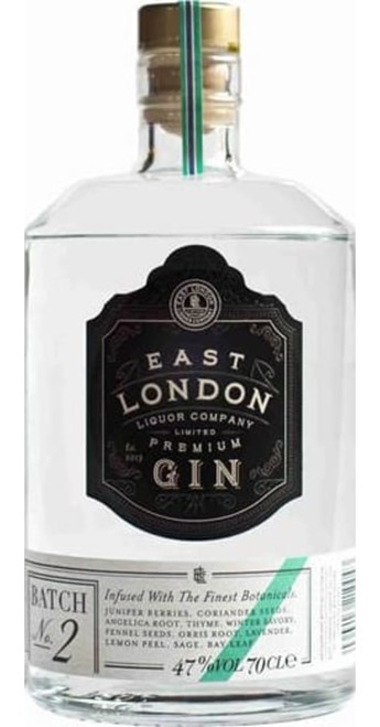 East London Liquor Company Premium Gin Batch No. 2