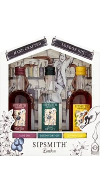 Sipsmith London Dry Gin Miniature Gift Pack 3x5cl