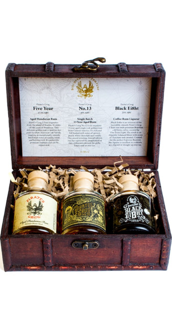 Pirate's Grog Rum Miniature Chest Gift Pack 3x5cl