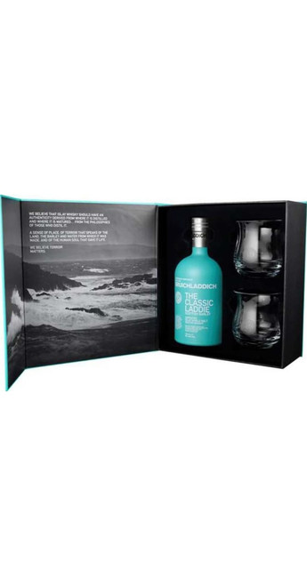 Bruichladdich Classic Laddie Single Malt Whisky Glass Gift Pack