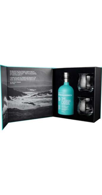 Bruichladdich Classic Laddie Single Malt Whisky Glass Gift Pack