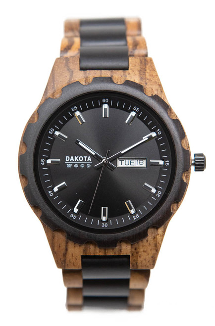 Dakota Wood - Zebrawood Case / Ebonywood Black Dial