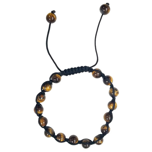 Tiger Eye Macrame Stone Bead Bangle