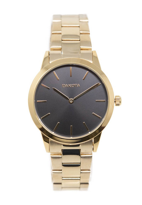 Gold Ion Plated Case & Band - Black Dial