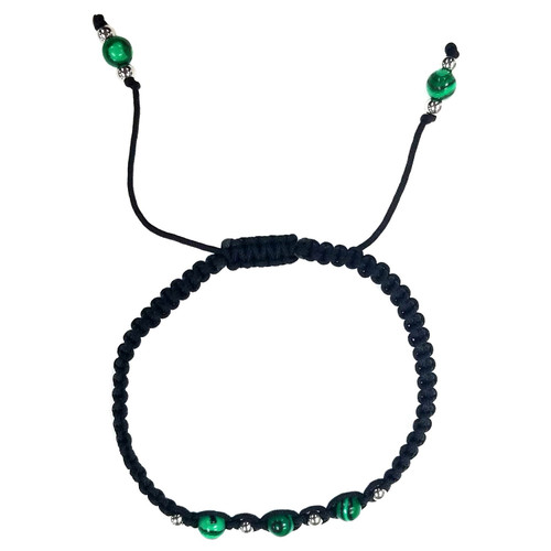 Malachite Beads Nylon Bangle