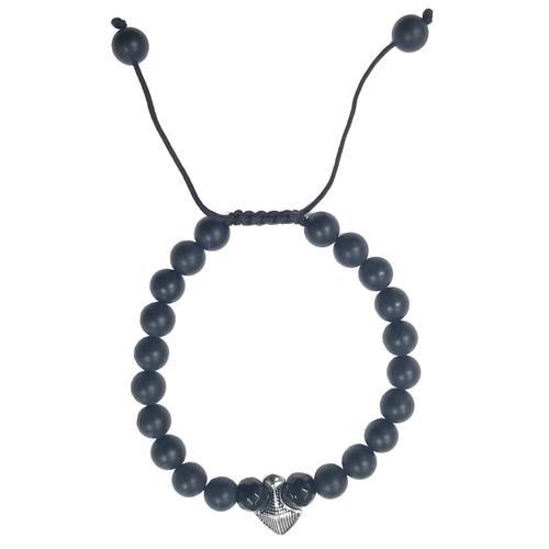 Macrame Bracelet - Onyx Shield