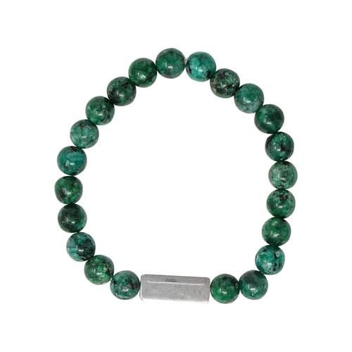 Green Jasper Stone Bracelet 8mm
