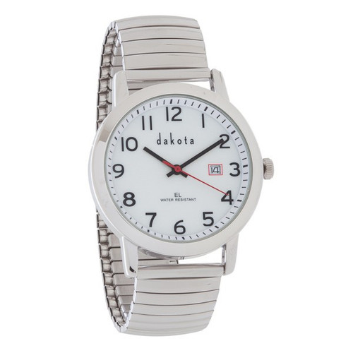 Stretch EL Watch - Large Case Silver