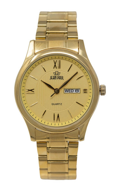 Jean Paul Everyday Metal - Gold Case/Band Gold Dial Day/Date
