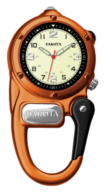 Mini Clip Microlight - Cream Dial Orange Case