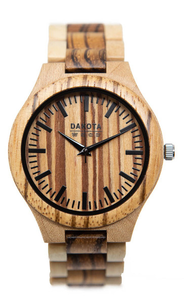 Maple Wood Zebra Dial and Bezel