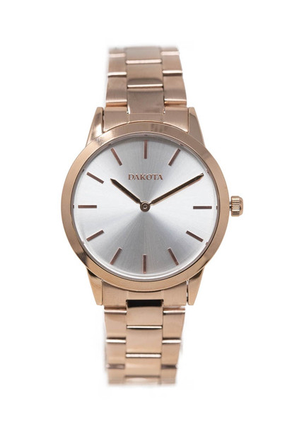 Midsize Sunray - Rose Gold Case/Band Silver Dial