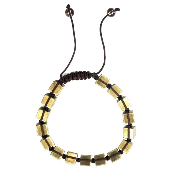 Macrame Bracelet - Antique Brass